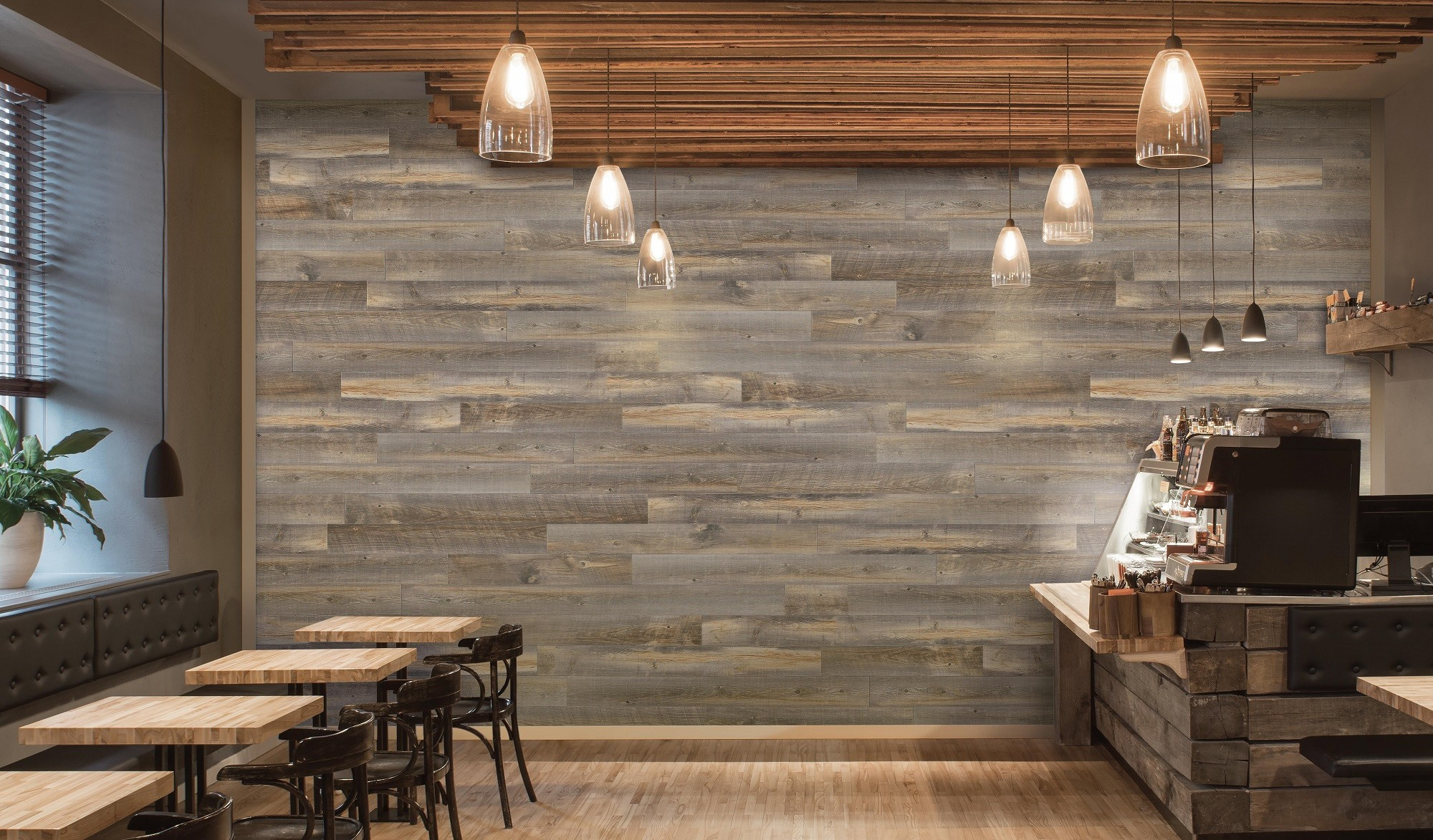 Wood peel and stick wall plank backcountry for Peel n stick wallpaper