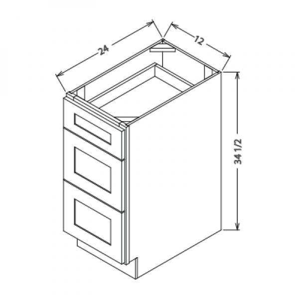 Base Kitchen Cabinets 3 Drawer Db15 Db18 Db21 Db24 Db30 Db36